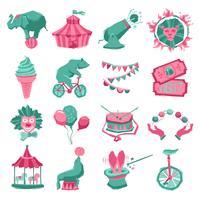 cirkus ikonuppsättning