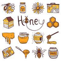 honung ikoner uppsättning