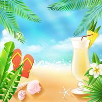 Tropiska havet bakgrund