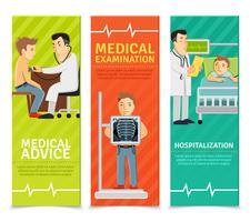 Ärztliche Untersuchung Banner vektor