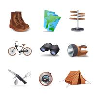 Wanderung Icons Set
