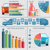 auto service infographics vektor