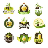 Olive Ild Abzeichen vektor