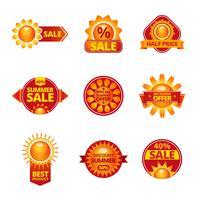 Summer Sale Etiketten gesetzt vektor