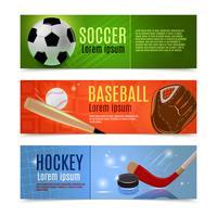 Sport-Banner-Set vektor
