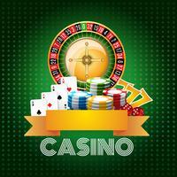 Casino Hintergrund Poster drucken vektor