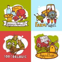 Jordbruksdesignkoncept