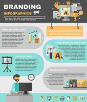 Branding Infografiken Set vektor