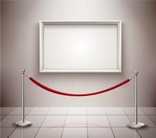 Bild på utställning vektor
