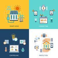Smart house design koncept platt