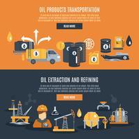 Ölindustrie-Banner vektor