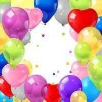 Färgglada ballonger bakgrund