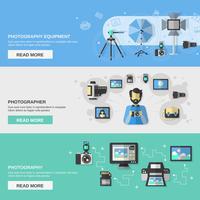 Fotograferingsbannersats