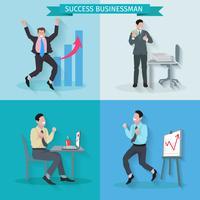 Framgångsrik affärsman uppsättning