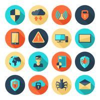 Symbole für die Netzwerksicherheit