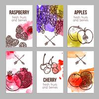 Karten mit Früchten