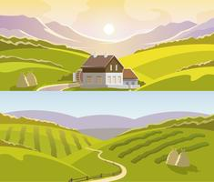 Berglandschaft Banner Set