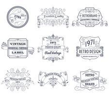 Vintage Etiketten gesetzt