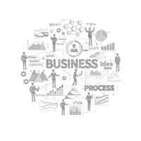 Geschäftskonzept-Skizze