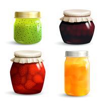 Marmeladenglas gesetzt