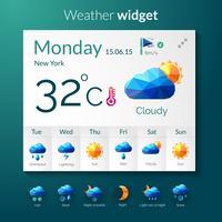 Polygonales Widget für das Wetter
