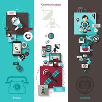 Kommunikations-Banner-Set