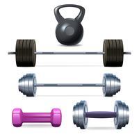Kurzhanteln Barbells und Gewicht vektor