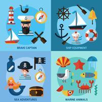 Nautische Icons Set vektor