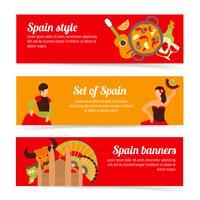 Spanien banners set vektor