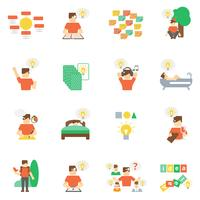Ideen Icons Flat Set
