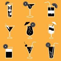 Sammlung von Party-Cocktails mit Alkohol