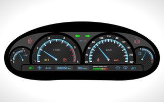 Auto-Dashboard isoliert vektor