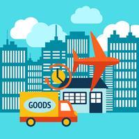 Affärsleverans 24h internet shopping service vektor