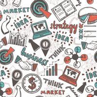 Skizze Geschäft nahtlose Muster
