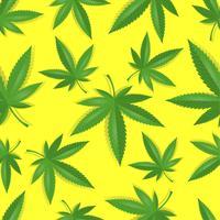Nahtloses Marihuana-Cannabis-Muster vektor
