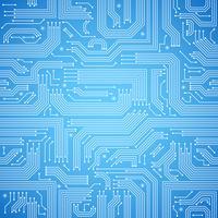 Kretskort sömlöst blått mönster vektor