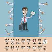 Affärsman konstruktion pack