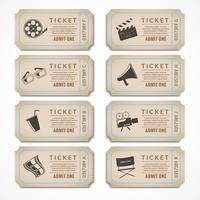 Retro biografbiljetter