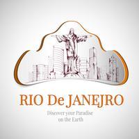 Rio de Janeiro stadsemblem vektor