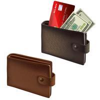 Schwarze und braune Lederbrieftaschen