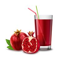 Granatäpple juice glas