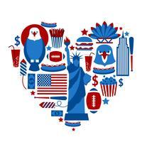 Hjärta New York USA