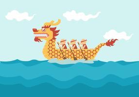 drake båt festival vektor illustration