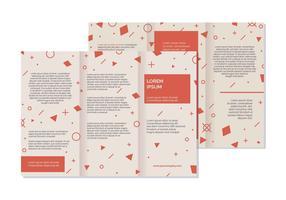 Broschüre Vorlage Vektor-Illustration