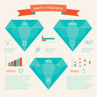 Smycken ikon infographic