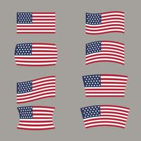Amerikanska flaggformer vektor