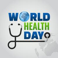 världens hälsodag design vektor
