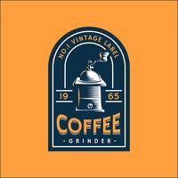 Kaffee Retro Label Vorlage vektor