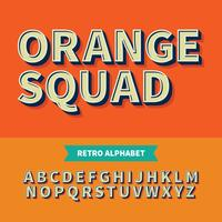 Vektor av Retro FRONT Bold and Alphabet