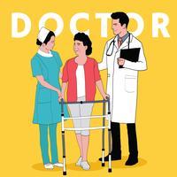 Läkartjänster vektor